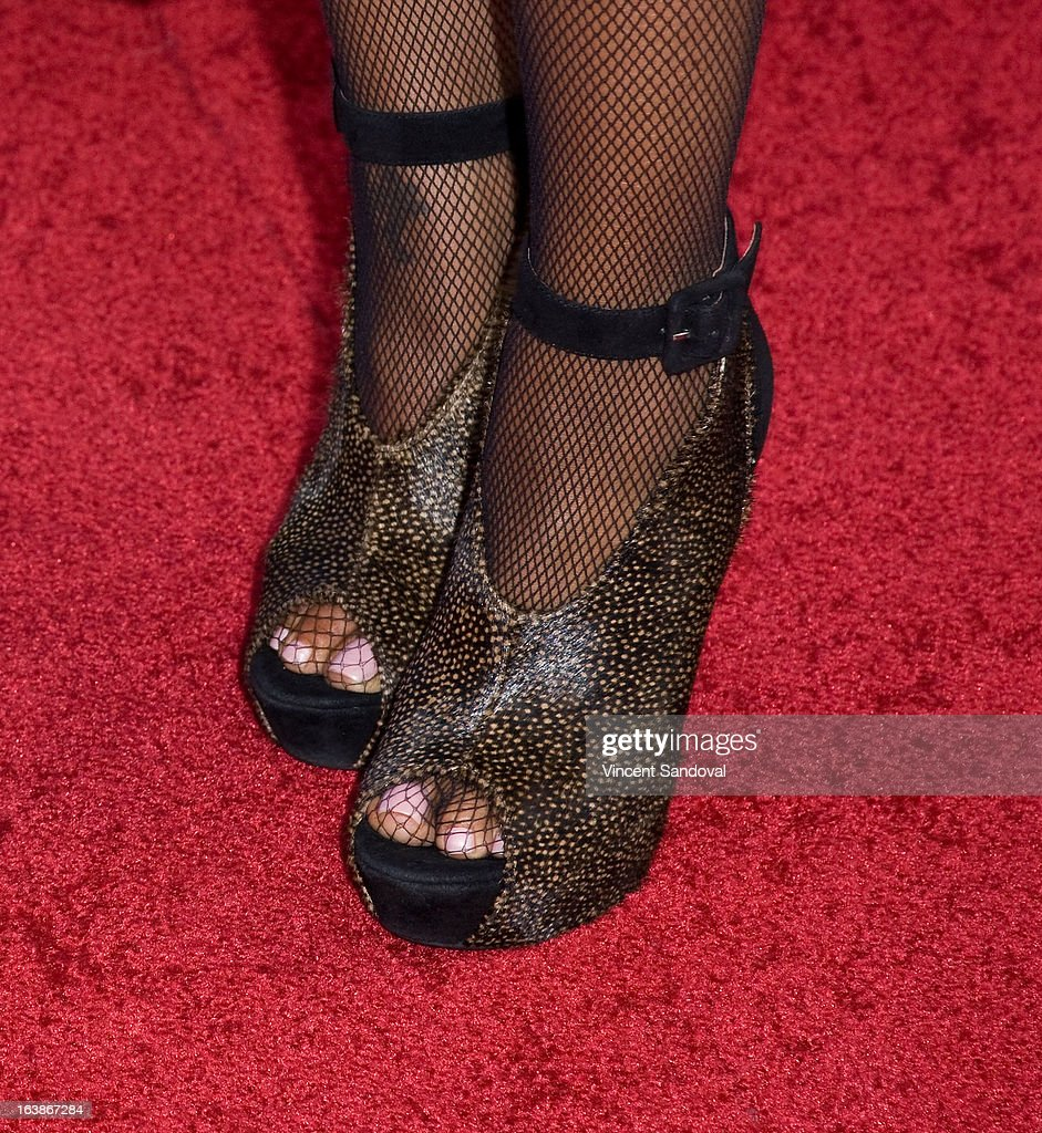 Actress Sheree Fletcher (shoe detail) attends the BET 13th annual 'Celebration Of Gospel' at Orpheum Theatre on March 16, 2013 in Los Angeles, California.