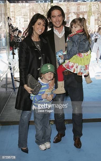 Actress Sheree Murphy and husband footballer Harry Kewell with their children Taylor and Ruby arrive at the UK Premiere of 'Ice Age 2 The Meltdown'...
