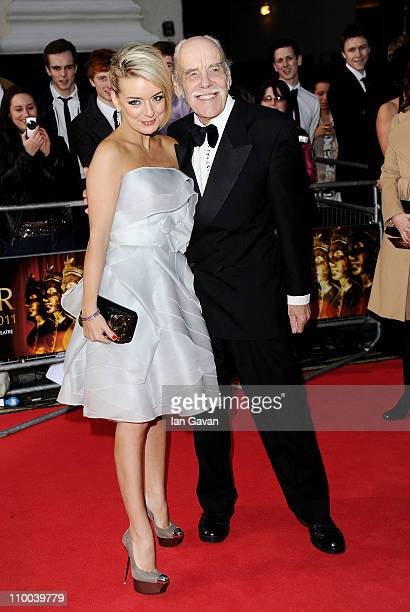 Actress Sheridan Smith and her father Colin Smith attend The Olivier Awards 2011 at Theatre Royal on March 13 2011 in London England