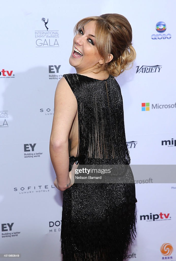 Actress <a gi-track='captionPersonalityLinkClicked' href=/galleries/search?phrase=Sheridan+Smith&family=editorial&specificpeople=4159304 ng-click='$event.stopPropagation()'>Sheridan Smith</a> attends the 41st International Emmy Awards at the Hilton New York on November 25, 2013 in New York City.