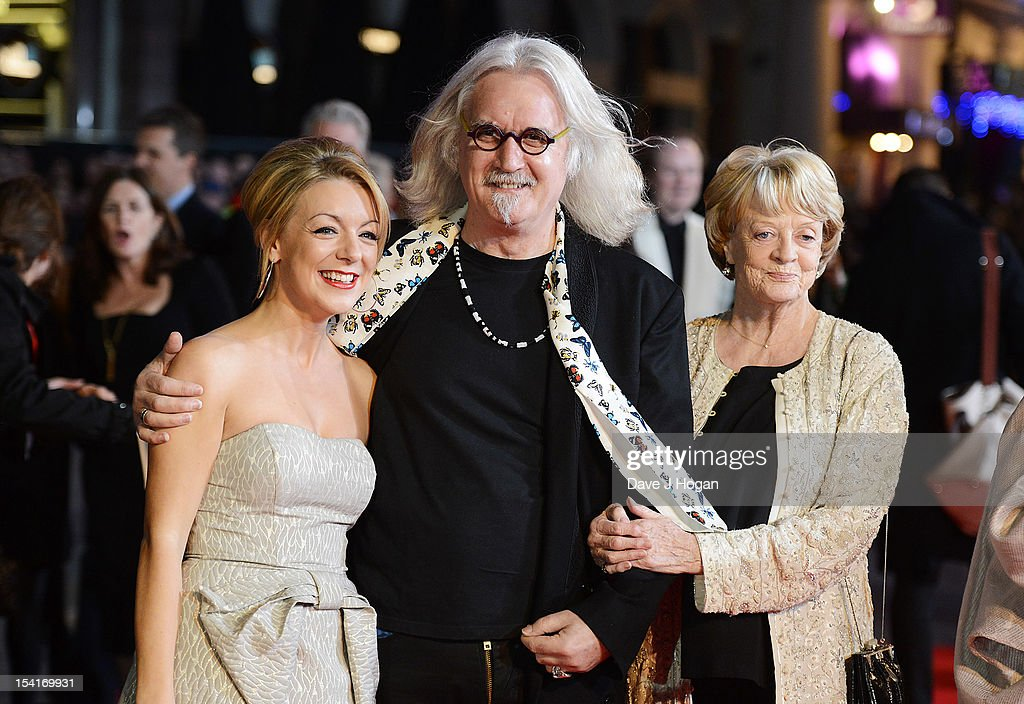 Actress Sheridan Smith (L), comedian Billy Connolly and actress Dame Maggie Smith attend the premiere of 'Quartet' during the 56th BFI London Film Festival at Odeon Leicester Square on October 15, 2012 in London, England.
