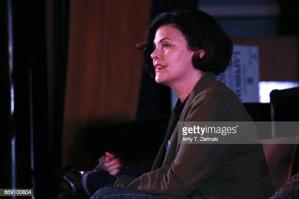 Actress Sherilyn Fenn answers questions on stage during the Twin Peaks UK Festival 2017 at Hornsey Town Hall Arts Centre on October 8 2017 in London...