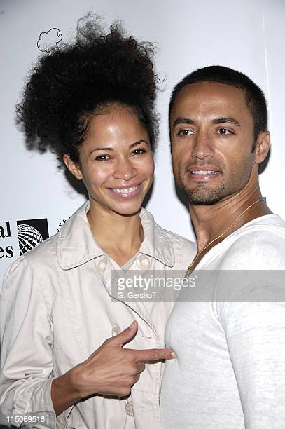 Actress Sherri Saum and Actor Kamar de los Reyes attend the 21st Annual Broadway Flea Market and Grand Auction at Shubert Alley and West 44th Street...