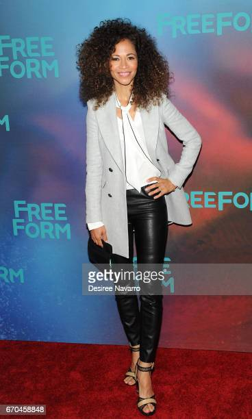 Actress Sherri Saum attends Freeform 2017 Upfront at Hudson Mercantile on April 19 2017 in New York City