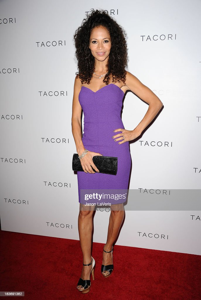 Actress <a gi-track='captionPersonalityLinkClicked' href=/galleries/search?phrase=Sherri+Saum&family=editorial&specificpeople=584078 ng-click='$event.stopPropagation()'>Sherri Saum</a> attends the Club Tacori 2013 event at Greystone Manor Supperclub on October 8, 2013 in West Hollywood, California.