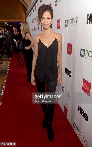 Actress Sherri Saum attends the Point Foundation's Annual Voices On Point Gala at the Hyatt Regency Century Plaza on October 3 2015 in Los Angeles...