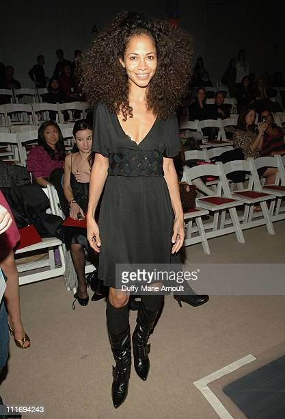 Actress Sherri Saum attends Vivienne Tam Fall 2008 during MercedesBenz Fashion Week at The Promenade Bryant Park on February 5 2008 in New York City
