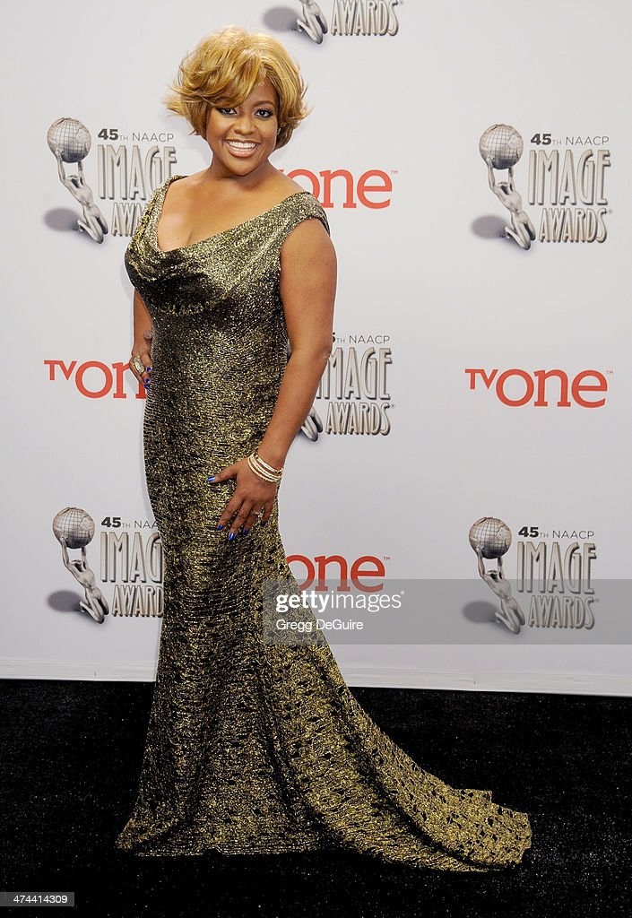 Actress <a gi-track='captionPersonalityLinkClicked' href=/galleries/search?phrase=Sherri+Shepherd&family=editorial&specificpeople=693379 ng-click='$event.stopPropagation()'>Sherri Shepherd</a> poses in the press room at the 45th NAACP Image Awards at Pasadena Civic Auditorium on February 22, 2014 in Pasadena, California.