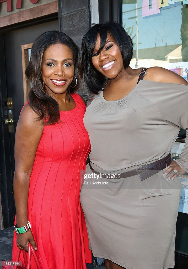 Actress <a gi-track='captionPersonalityLinkClicked' href=/galleries/search?phrase=Sheryl+Lee+Ralph&family=editorial&specificpeople=214083 ng-click='$event.stopPropagation()'>Sheryl Lee Ralph</a> (L) and Recording Artist Kelly Price (R) attend the casting auditions for the new reality show 'Too Fat For Fame' at The Complex Hollywood on August 28, 2013 in Los Angeles, California.