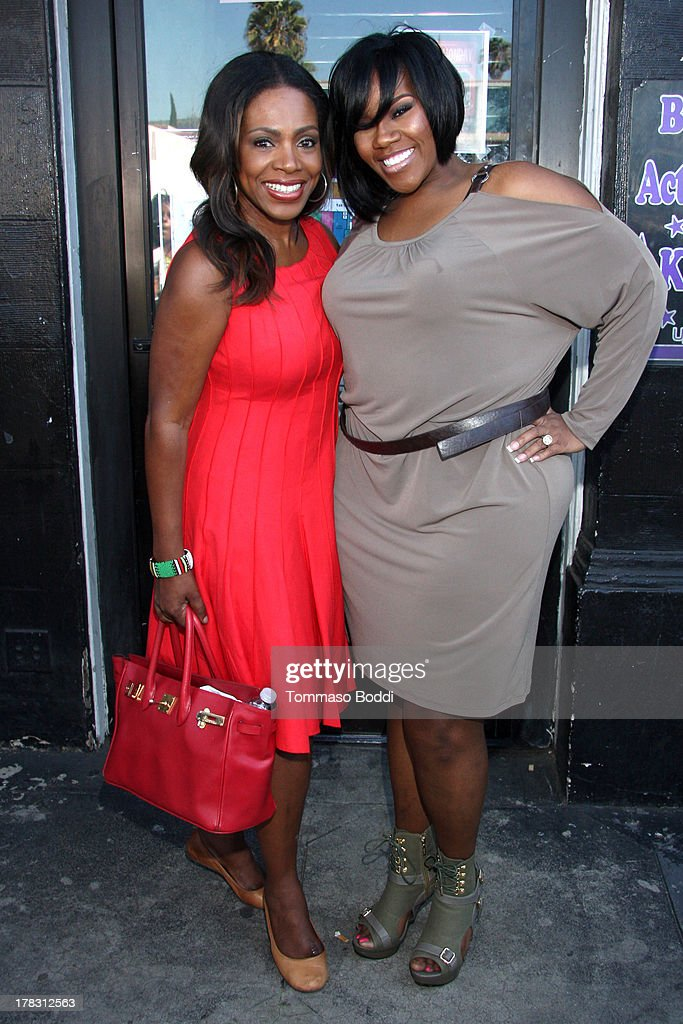 Actress <a gi-track='captionPersonalityLinkClicked' href=/galleries/search?phrase=Sheryl+Lee+Ralph&family=editorial&specificpeople=214083 ng-click='$event.stopPropagation()'>Sheryl Lee Ralph</a> (L) and singer Kelly Price attend the live casting auditions for new reality show 'Too Fat For Fame' held at The Complex Hollywood on August 28, 2013 in Los Angeles, California.
