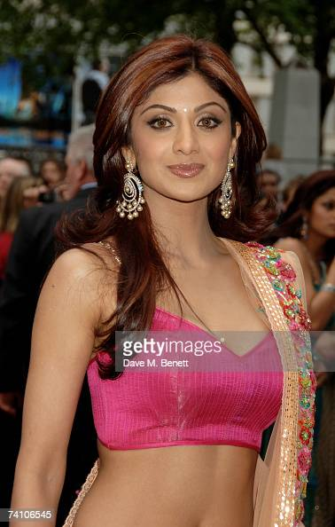 Actress Shilpa Shetty attends the UK premiere of 'Life In A Metro' at the Empire Leicester Square on May 8 2007 in London England