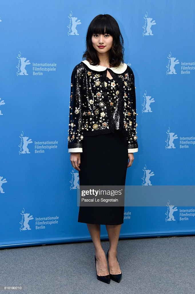 Actress Shiori Kutsuna attends the 'While the Women Are Sleeping' photo call during the 66th Berlinale International Film Festival Berlin at Grand...