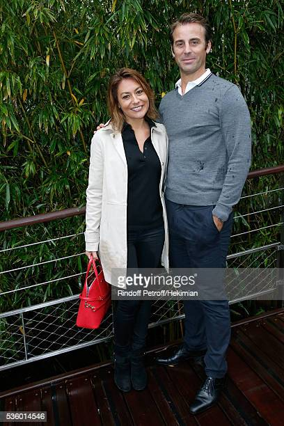 Actress Shirley Bousquet and Charles Watine attend Day Ten of the 2016 French Tennis Open at Roland Garros on May 31 2016 in Paris France