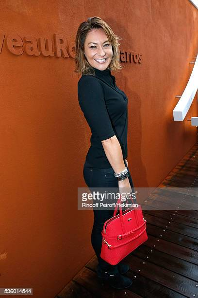 Actress Shirley Bousquet attends Day Ten of the 2016 French Tennis Open at Roland Garros on May 31 2016 in Paris France