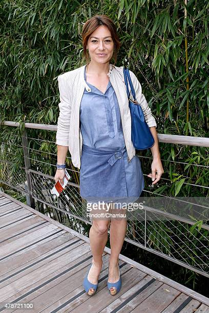 Actress Shirley Bousquet attends the 2015 Roland Garros French Tennis Open Day Eleven on June 3 2015 in Paris France
