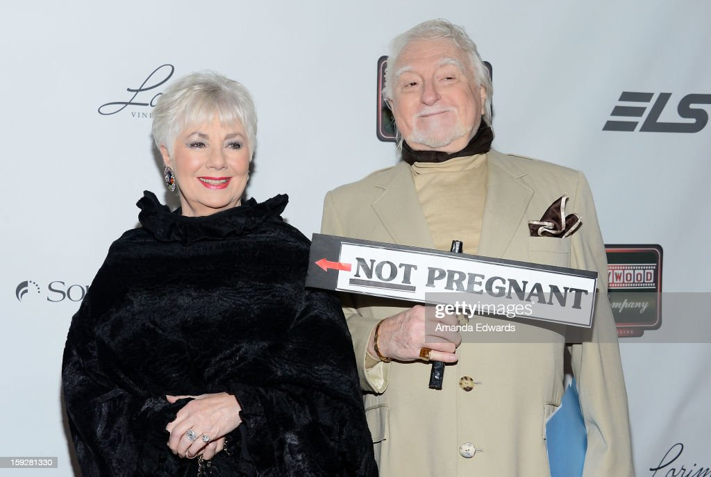 Actress <a gi-track='captionPersonalityLinkClicked' href=/galleries/search?phrase=Shirley+Jones&family=editorial&specificpeople=214776 ng-click='$event.stopPropagation()'>Shirley Jones</a> (L) and her husband <a gi-track='captionPersonalityLinkClicked' href=/galleries/search?phrase=Marty+Ingels&family=editorial&specificpeople=225082 ng-click='$event.stopPropagation()'>Marty Ingels</a> arrive at the Hooray For Hollywood...High Gala at the El Capitan Theatre on January 10, 2013 in Hollywood, California.