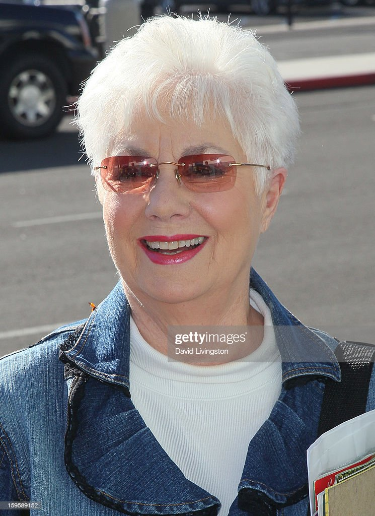 Actress <a gi-track='captionPersonalityLinkClicked' href=/galleries/search?phrase=Shirley+Jones&family=editorial&specificpeople=214776 ng-click='$event.stopPropagation()'>Shirley Jones</a> celebrates their 35th wedding anniversary to Marty Ingels by cruising on the S.S. Princess Golden at the Port of Los Angeles Berth 93 on January 16, 2013 in San Pedro, California.
