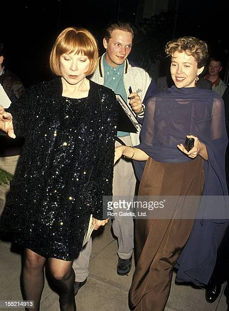 Actress Shirley MacLaine and Annette Bening attend the 22nd Annual American Film Institute Lifetime Achievement Award Salute to Jack Nicholson on...