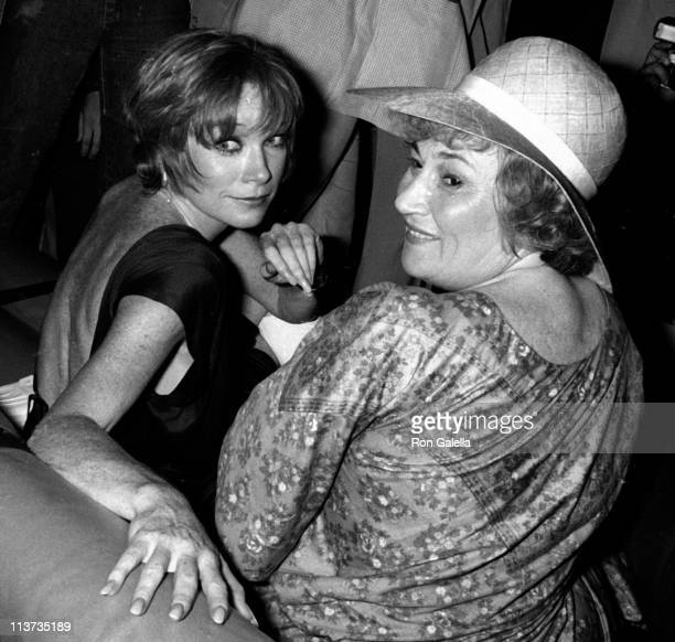Actress Shirley MacLaine and Bella Abzug attend the birthday party for Bella Abzug on July 25 1977 at Studio 54 in New York City
