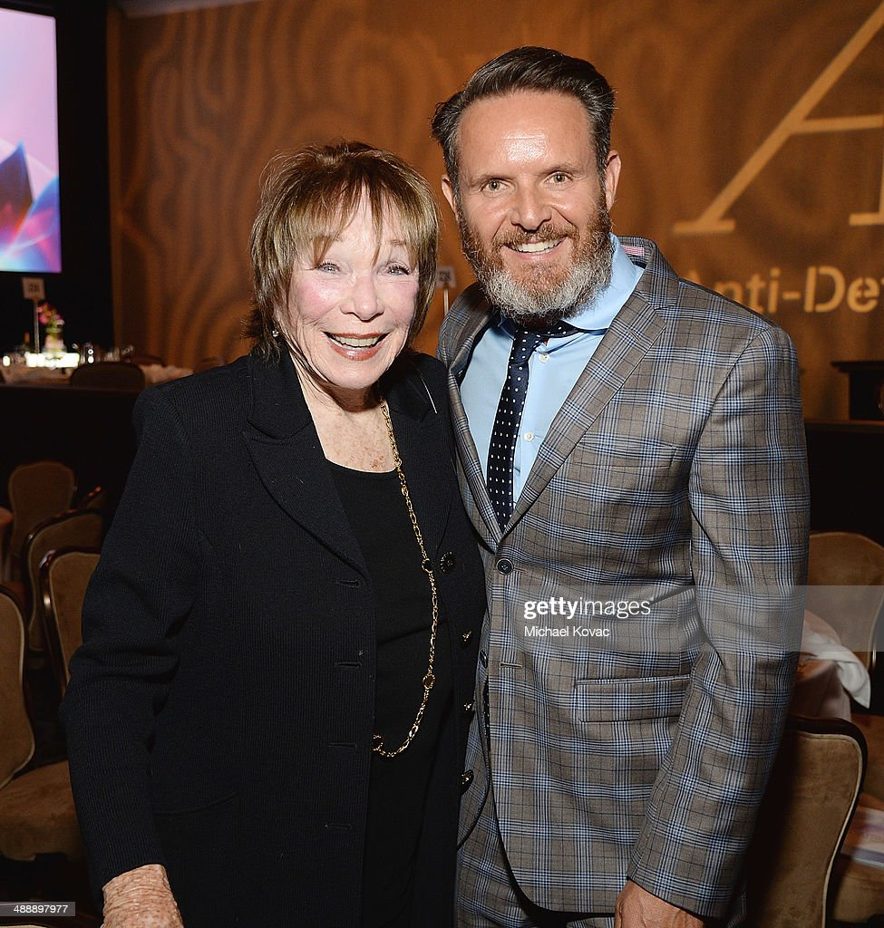 Actress <a gi-track='captionPersonalityLinkClicked' href=/galleries/search?phrase=Shirley+MacLaine&family=editorial&specificpeople=204788 ng-click='$event.stopPropagation()'>Shirley MacLaine</a> (L) and honoree <a gi-track='captionPersonalityLinkClicked' href=/galleries/search?phrase=Mark+Burnett&family=editorial&specificpeople=204697 ng-click='$event.stopPropagation()'>Mark Burnett</a> attend the Anti-Defamation League Entertainment Industry Dinner Honoring Roma Downey And <a gi-track='captionPersonalityLinkClicked' href=/galleries/search?phrase=Mark+Burnett&family=editorial&specificpeople=204697 ng-click='$event.stopPropagation()'>Mark Burnett</a> at The Beverly Hilton Hotel on May 8, 2014 in Beverly Hills, California.