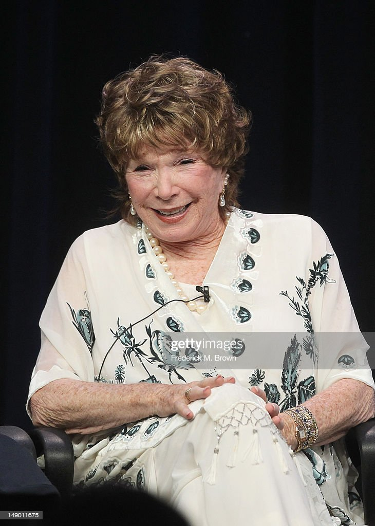 Actress <a gi-track='captionPersonalityLinkClicked' href=/galleries/search?phrase=Shirley+MacLaine&family=editorial&specificpeople=204788 ng-click='$event.stopPropagation()'>Shirley MacLaine</a> speaks onstage at the Masterpiece Classic 'Downton Abbey, Season 3' panel during day 1 of the PBS portion of the 2012 Summer TCA Tour held at the Beverly Hilton Hotel on July 21, 2012 in Beverly Hills, California.
