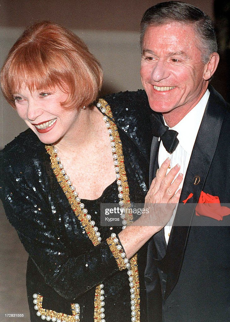 Actress Shirley MacLaine with actor Roddy McDowall (1928 - 1998) during the 4th Annual Britannia Awards at the Beverly Hilton Hotel in Beverly Hills, California, United States, 10th December 1993.