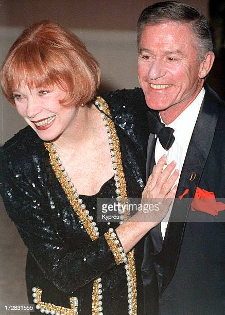 Actress Shirley MacLaine with actor Roddy McDowall during the 4th Annual Britannia Awards at the Beverly Hilton Hotel in Beverly Hills California...