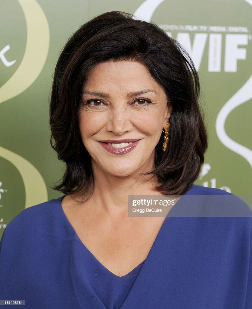 Actress <a gi-track='captionPersonalityLinkClicked' href=/galleries/search?phrase=Shohreh+Aghdashloo&family=editorial&specificpeople=210536 ng-click='$event.stopPropagation()'>Shohreh Aghdashloo</a> arrives at the Variety and Women In Film Pre-Emmy Party at Scarpetta on September 20, 2013 in Beverly Hills, California.