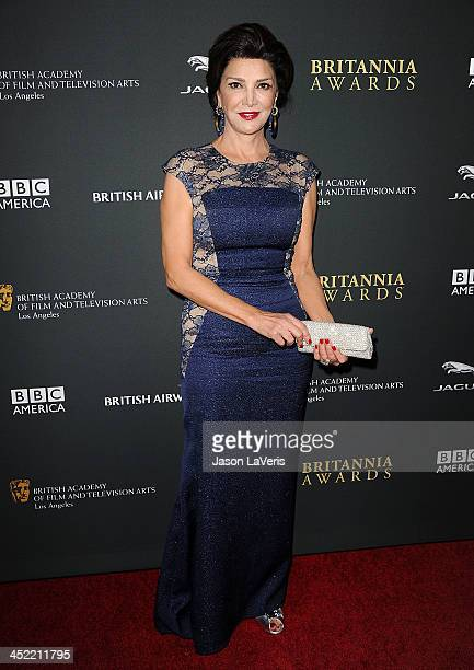Actress Shohreh Aghdashloo attends the BAFTA Los Angeles Britannia Awards at The Beverly Hilton Hotel on November 9 2013 in Beverly Hills California