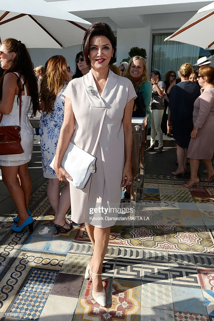 Actress <a gi-track='captionPersonalityLinkClicked' href=/galleries/search?phrase=Shohreh+Aghdashloo&family=editorial&specificpeople=210536 ng-click='$event.stopPropagation()'>Shohreh Aghdashloo</a> attends the BAFTA LA TV Tea 2013 presented by BBC America and Audi held at the SLS Hotel on September 21, 2013 in Beverly Hills, California.