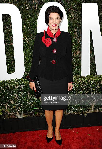Actress Shohreh Aghdashloo attends the premiere of 'Mandela Long Walk To Freedom' at ArcLight Cinemas Cinerama Dome on November 11 2013 in Hollywood...