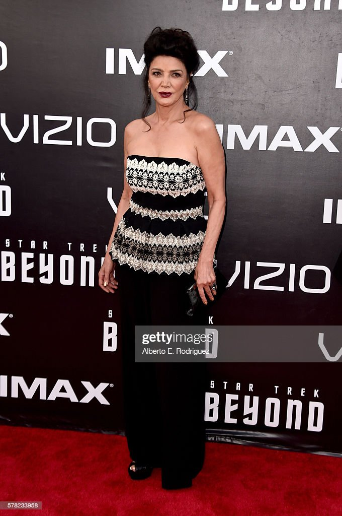 Actress Shohreh Aghdashloo attends the premiere of Paramount Pictures' 'Star Trek Beyond' at Embarcadero Marina Park South on July 20, 2016 in San Diego, California.