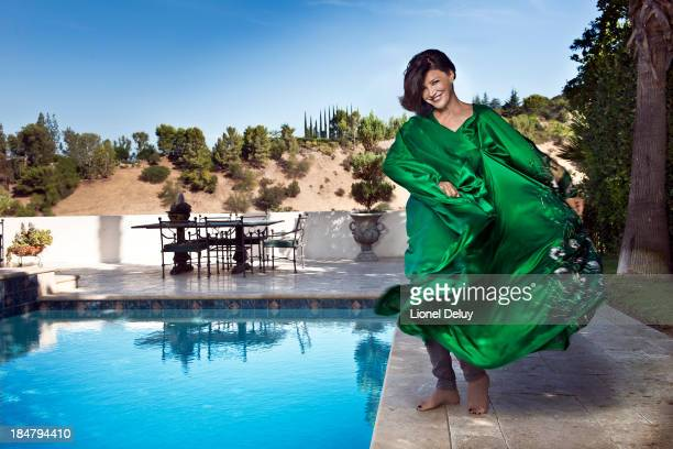 Actress Shohreh Aghdashloo is photographed for Beyond Cinema Magazine on August 1 2013 in Calabasas California