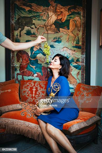 Actress Shohreh Aghdashloo is photographed for Emmy Magazine on September 19 2013 in Thousand Oaks California