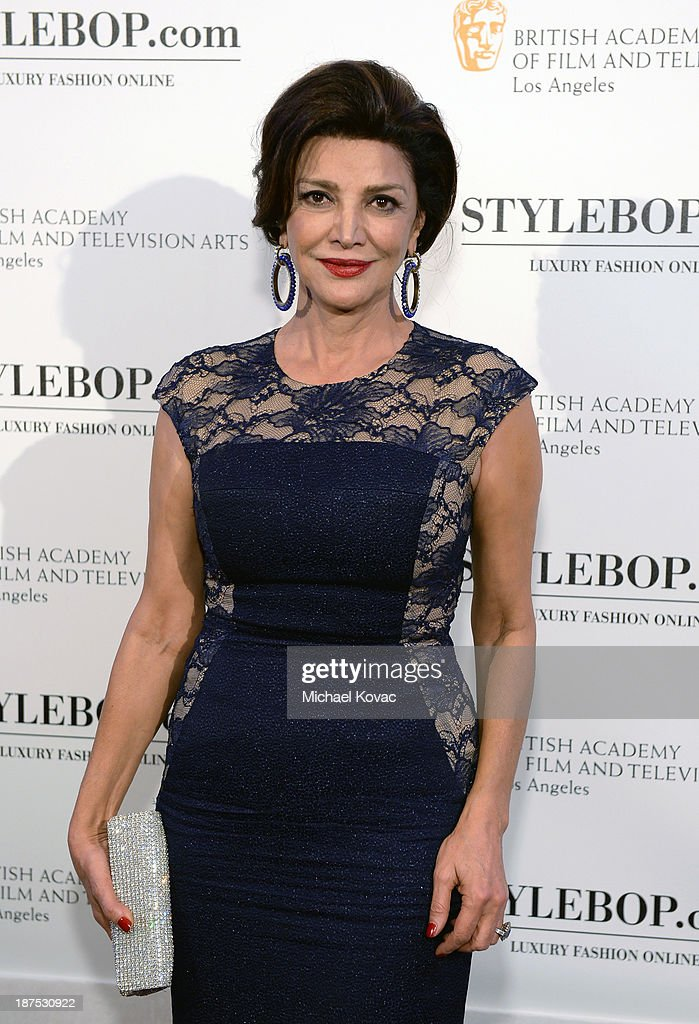 Actress <a gi-track='captionPersonalityLinkClicked' href=/galleries/search?phrase=Shohreh+Aghdashloo&family=editorial&specificpeople=210536 ng-click='$event.stopPropagation()'>Shohreh Aghdashloo</a> with Stylebop.com attends the 2013 BAFTA LA Jaguar Britannia Awards presented by BBC America at The Beverly Hilton Hotel on November 9, 2013 in Beverly Hills, California.