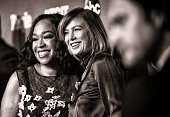 NOTE Actress Shonda Rhimes and actress Ellen Pompeo attend the celebration of ABC's TGIT Lineup held at Gracias Madre on September 26 2015 in West...