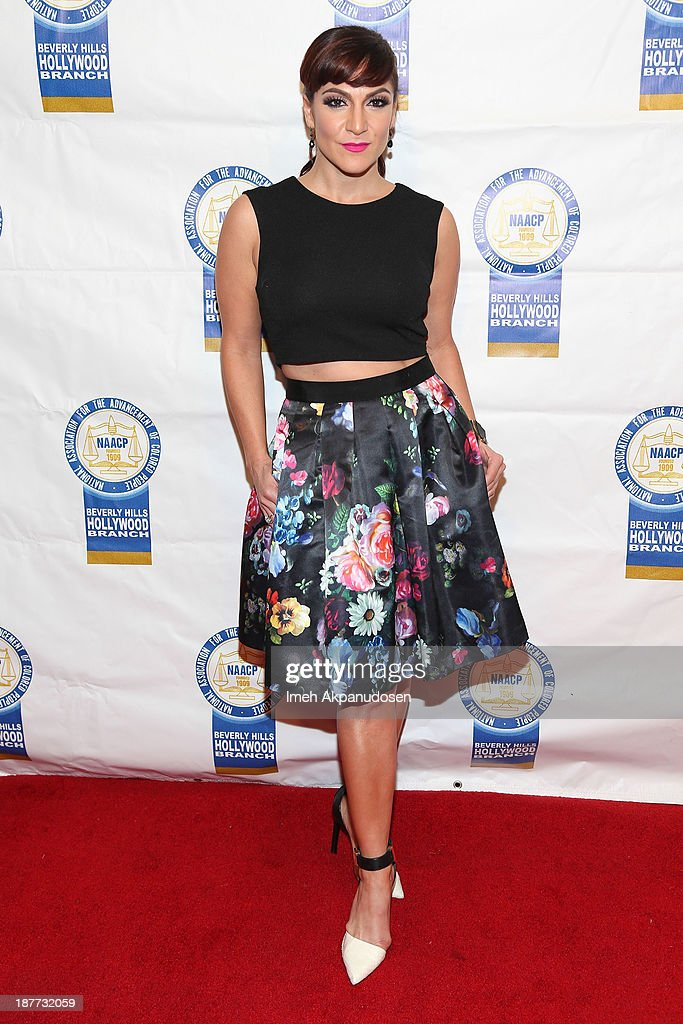 Actress Shoshana Bean attends the 23rd Annual NAACP Theatre Awards at Saban Theatre on November 11, 2013 in Beverly Hills, California.