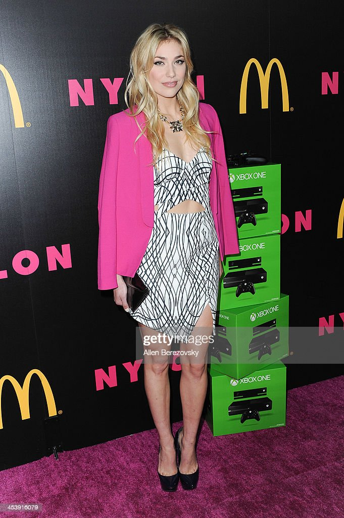 Actress Shoshana Bush attends NYLON Magazine's December Issue Celebration featuring cover star Demi Lovato at Smashbox West Hollywood on December 5, 2013 in West Hollywood, California.