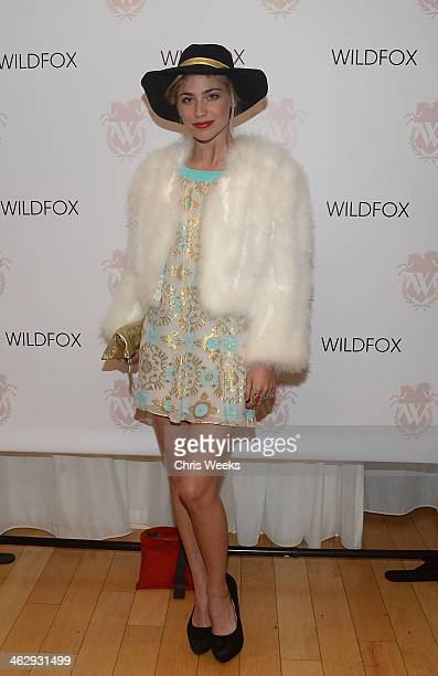 Actress Shoshana Bush attends the Wildfox Spring '14 launch party at SkyBar at the Mondrian Los Angeles on January 15 2014 in West Hollywood...