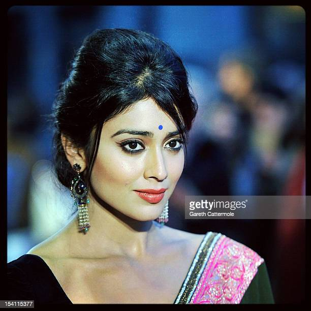 Actress Shriya Saran attends the premiere of 'Midnight's Children' during the 56th BFI London Film Festival at Odeon West End on October 14 2012 in...