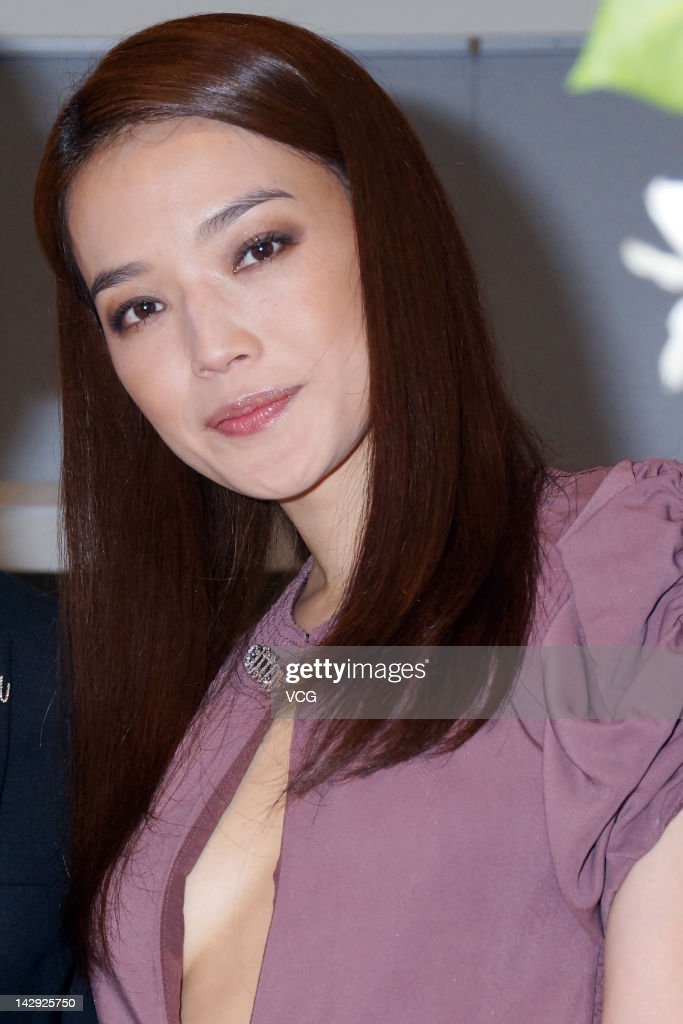 Actress Shu Qi attends citta by Roger promotional event at Taipei 101 on April 13 2012 in Taipei Taiwan
