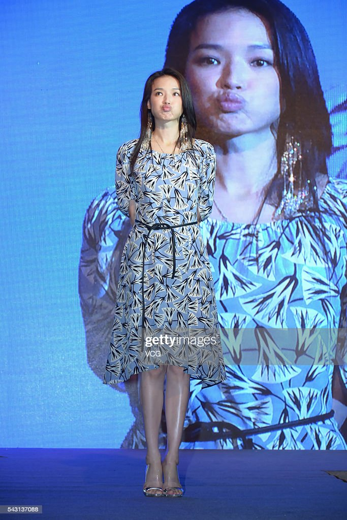Actress <a gi-track='captionPersonalityLinkClicked' href=/galleries/search?phrase=Shu+Qi&family=editorial&specificpeople=215300 ng-click='$event.stopPropagation()'>Shu Qi</a> attends Sogal Furniture activity on June 26, 2016 in Shanghai, China.