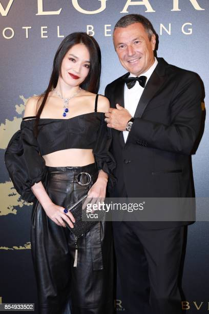 Actress Shu Qi attends the opening ceremony of Bvlgari Hotel Beijing on September 27 2017 in Beijing China