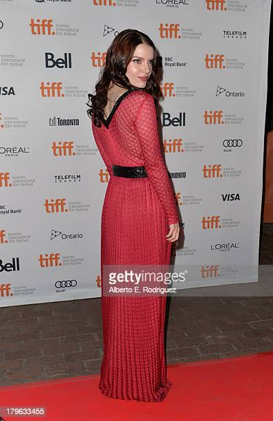Actress Sianoa SmitMcPhee arrives at the 'All Cheerleaders Die' premiere during the 2013 Toronto International Film Festival at Ryerson Theatre on...