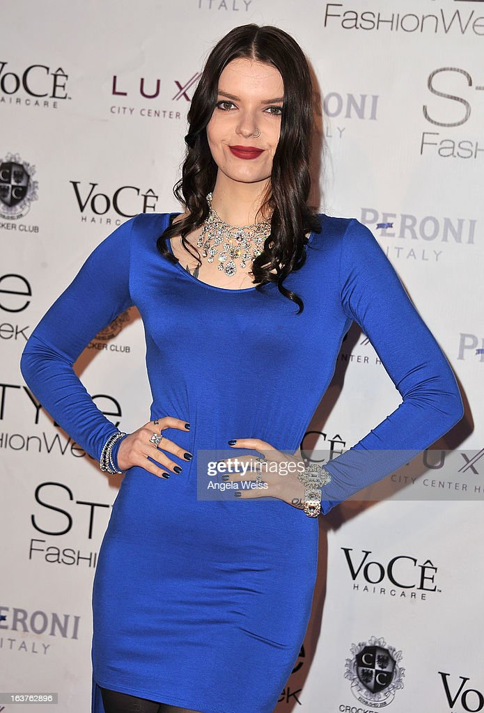 Actress <a gi-track='captionPersonalityLinkClicked' href=/galleries/search?phrase=Sianoa+Smit-McPhee&family=editorial&specificpeople=3955181 ng-click='$event.stopPropagation()'>Sianoa Smit-McPhee</a> arrives at the Madisonpark Collective 2013 fashion show as part of Los Angeles Fashion Week at Vibiana on March 14, 2013 in Los Angeles, California.