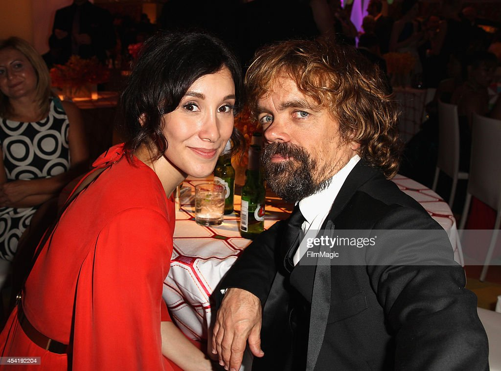 Actress Sibel Kekilli and actor Peter Dinklage attend HBO's Official 2014 Emmy After Party at The Plaza at the Pacific Design Center on August 25...