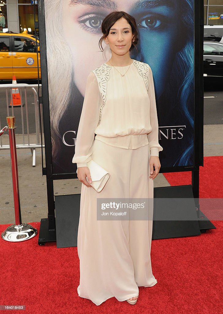 Actress Sibel Kekilli arrives at the Los Angeles Premiere of HBO's 'Game Of Thrones' Season 3 at TCL Chinese Theatre on March 18, 2013 in Hollywood, California.