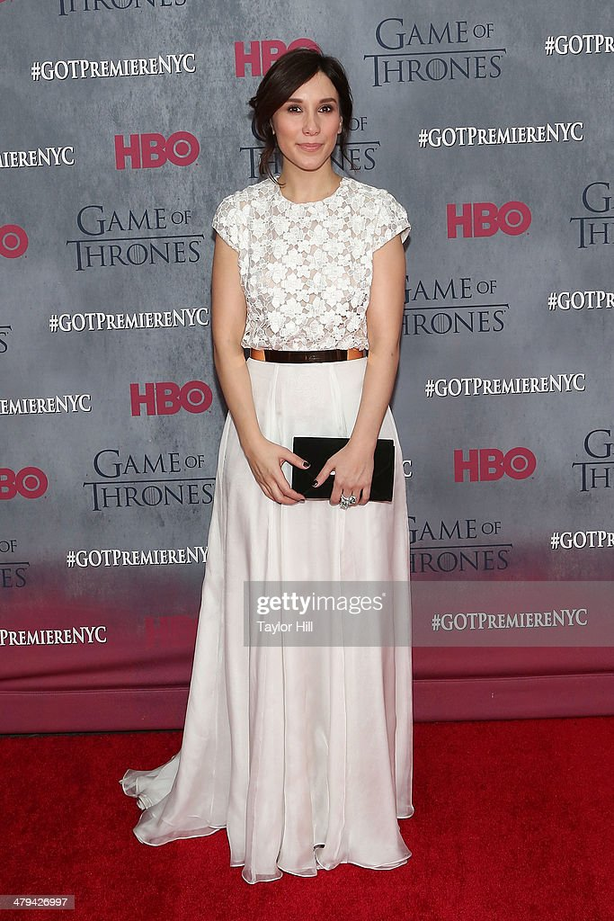 Actress Sibel Kekilli attends the 'Game Of Thrones' Season 4 premiere at Avery Fisher Hall, Lincoln Center on March 18, 2014 in New York City.