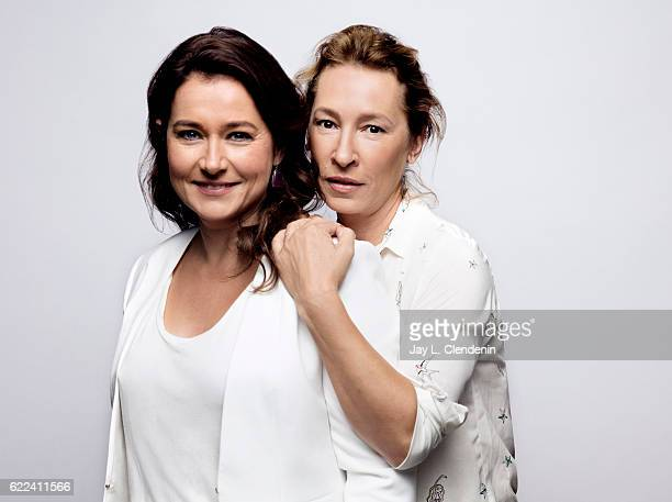 Actress Sidse Babett Knudsen and director Emmanuelle Bercot from the film 150 Milligrams pose for a portraits at the Toronto International Film...