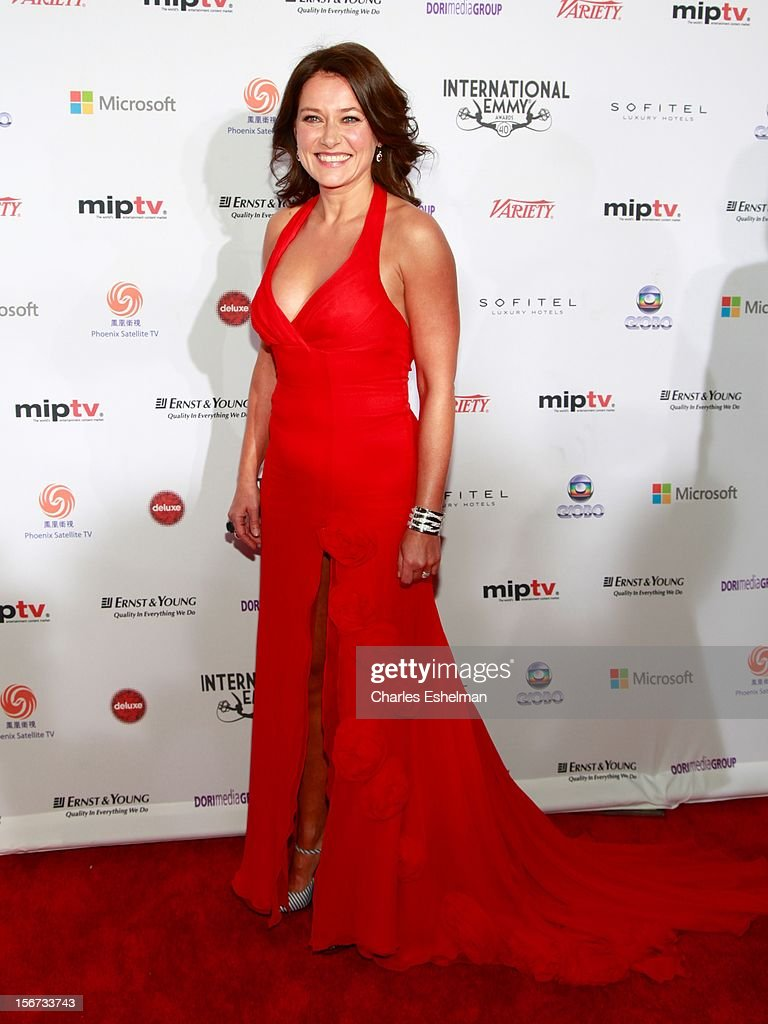 Actress Sidse Babett Knudsen attends the 40th International Emmy Awards at Mercury Ballroom at the New York Hilton on November 19, 2012 in New York City.